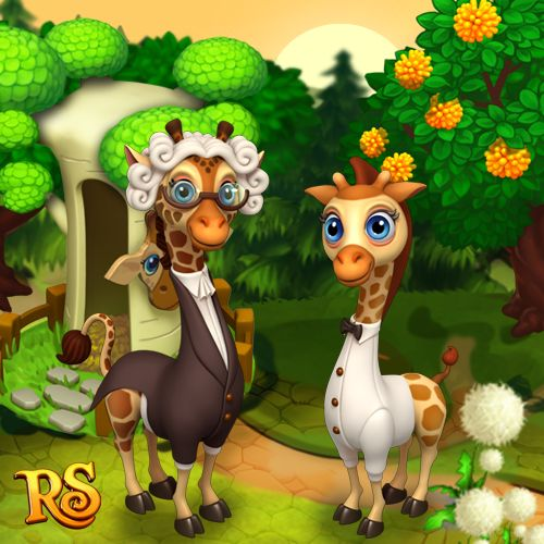 Say hello to our new friends - Mozart Giraffes!  #royalstorygame #royalzoo #royalanimals