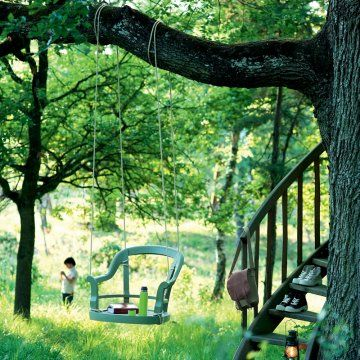 Une balançoire comme une chaise sans pied // swing, chair, kids, fun, garden, summer, happiness, party