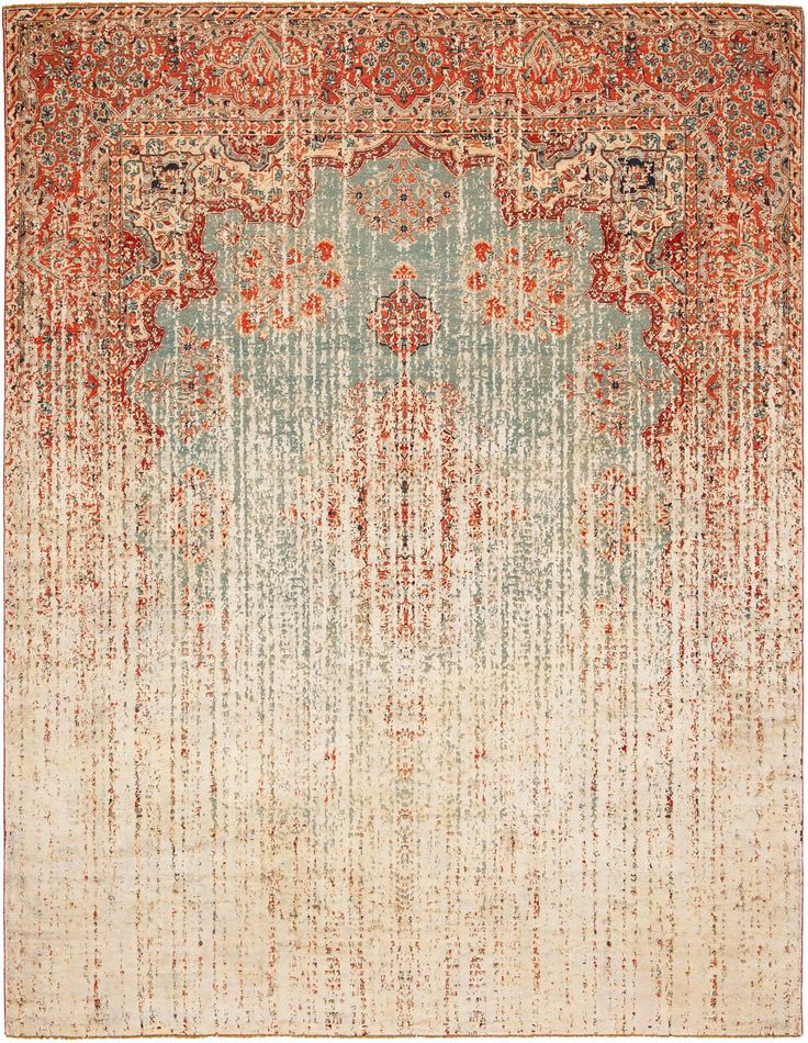 This Hand Made Designer Rug Is A Combination Of