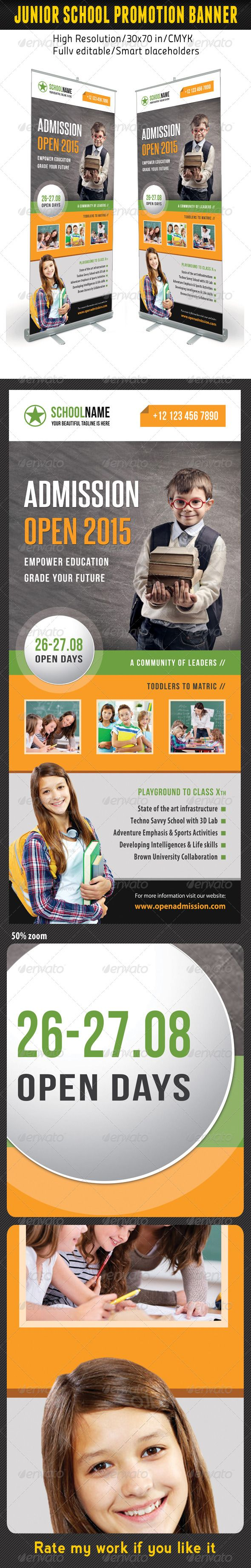 Junior School Promotion Banner Template 10 — Photoshop PSD #signboard #banner ...