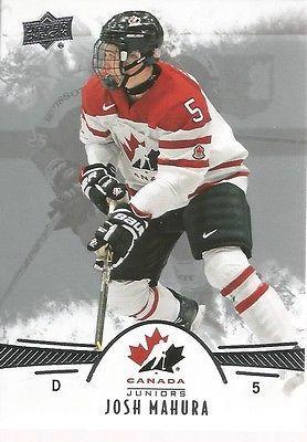 Josh Mahura #51 - 2016 Team Canada Juniors - Base Men