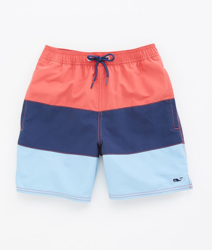 Boys Swim Trunks. Help your little guy ace swim class with boys' swim trunks. Whether the family is headed to the pool or a beachside vacation, keep his collection of swimwear up-to-date with the latest styles from brands like Quicksilver and Volcom.
