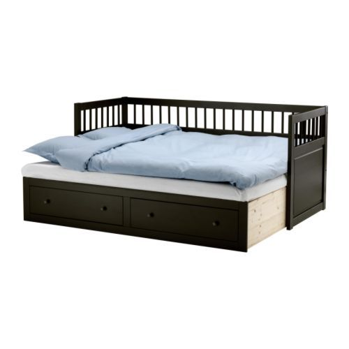 Share More Models Hemnes Daybed Frame With 2 Drawers Black Brown Article Number 201