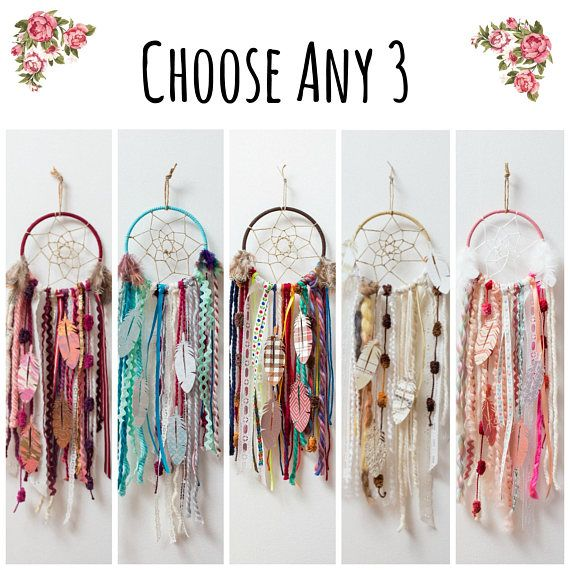 Choose Any 3 DIY Dream Catcher Kits. Do it Yourself Craft Kit