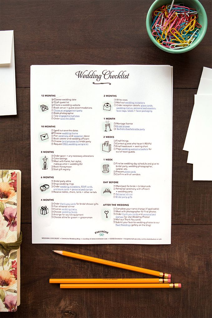 Best 25+ Wedding checklist printable ideas on Pinterest ...
