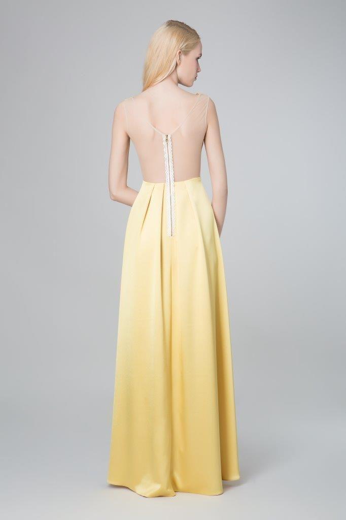 SADONI evening dress ZAHARA back with zipper