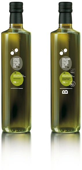 Winner of Red Dot Packaging Design Award: 100% Greek Olive Oil - Extra Virgin & Organic Olive Oils.