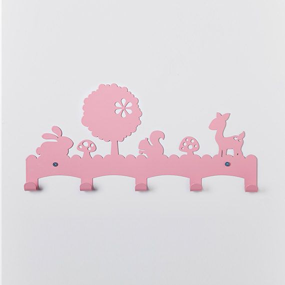 Forest Animals Children's Coat Rack / Nursery Wall by Einadesign