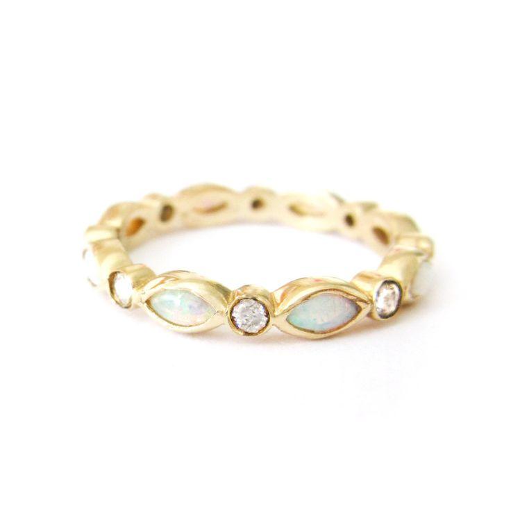Opal Eternity Ring – Misa Jewelry easily my new favorite jewelry designer