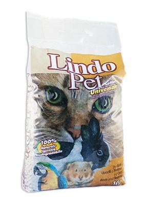 Lettiera universale Lindocat. Lettiera universale per piccoli animali (gatti, uccelli, roditori). 100% bre di legno di conifera; priva di additivi chimici.