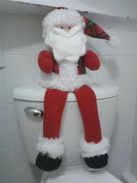 Porta papel higiénico para el baño navideño