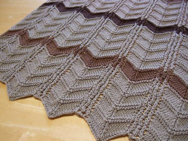 Famous Free Knitted Ripple Afghan Pattern Component Easy Scarf