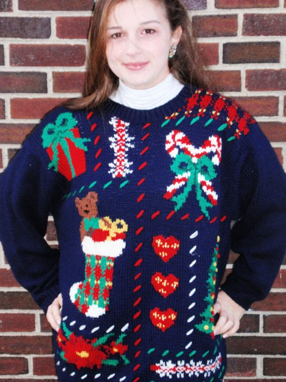 Ugly Christmas Sweater Stocking Edition by HappihouseHoliday, $2995