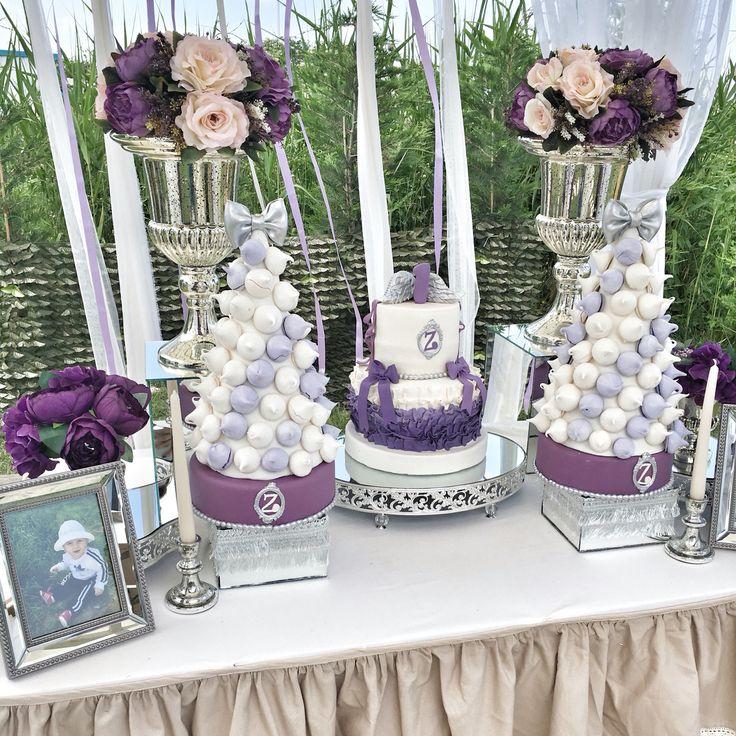 sunum masası candy corner purple and silver