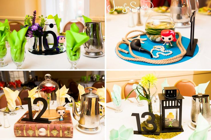 58 best images about disney centerpieces on pinterest for Disney themed wedding centerpieces