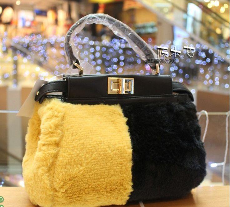 27.00$  Buy now - https://alitems.com/g/1e8d114494b01f4c715516525dc3e8/?i=5&ulp=https%3A%2F%2Fwww.aliexpress.com%2Fitem%2F2015-Hot-Sale-Fox-Fur-Bag-Bugs-Women-s-Handbag-Charms-Ladies-Bag-Luxury-famous-brand%2F32479003455.html - 2015 Hot Sale Fox Fur Bag Bugs Women's Handbag Charms Ladies Bag Luxury famous brand peekaboo pu leather bag for women designer 27.00$
