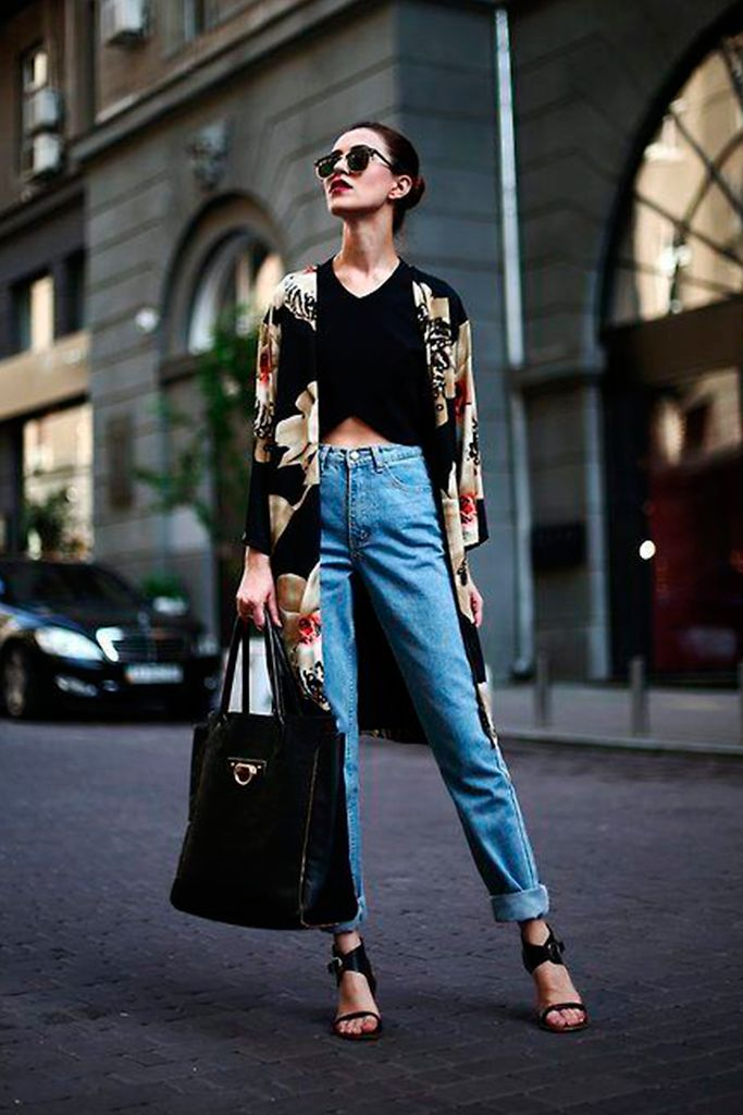 #basic #streetstyle #outfit #looks #basicos #inspiracion #inspiration #mom #jeans #shopper #bag