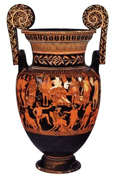 this a peice of greacian red vase i like this vase because I think that this type of art is very interesting to look  at all the drawings on them and find there purpose!!!!!!!!!!!