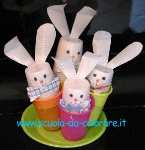 lavoretti di pasqua coniglietti