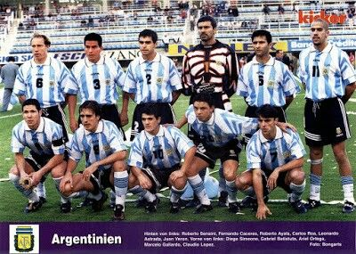 Argentina team group in 1997.