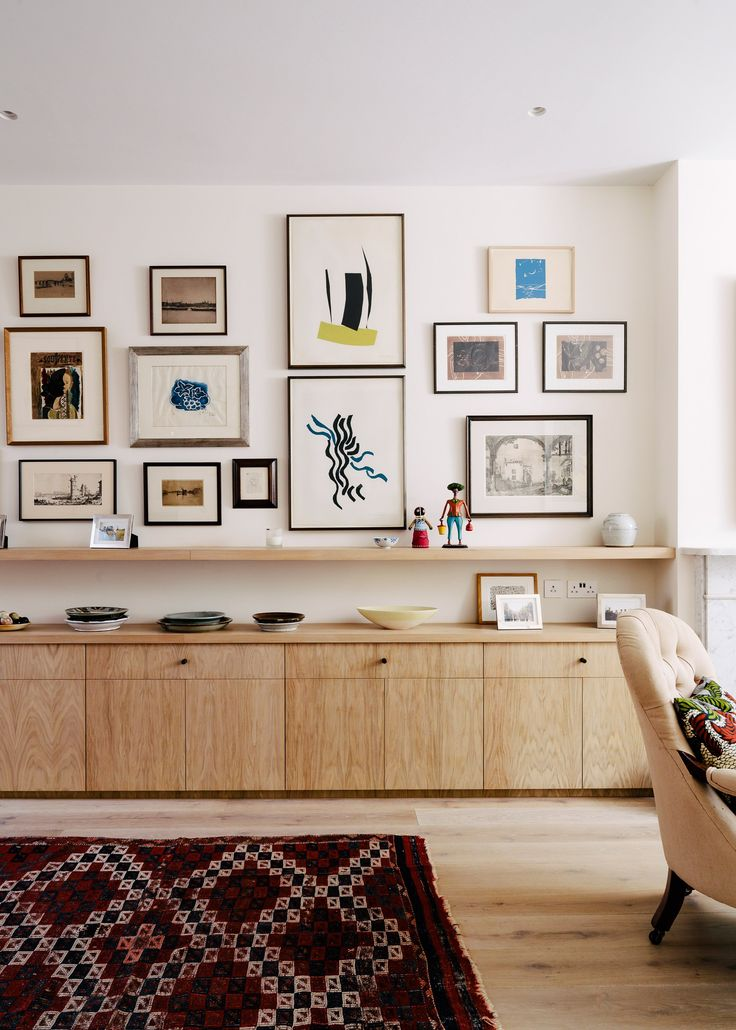 Neil Dusheiko Creates Home For Father In Law Featuring A Wall Of Art. Wall Cabinets  Living RoomLiving ...