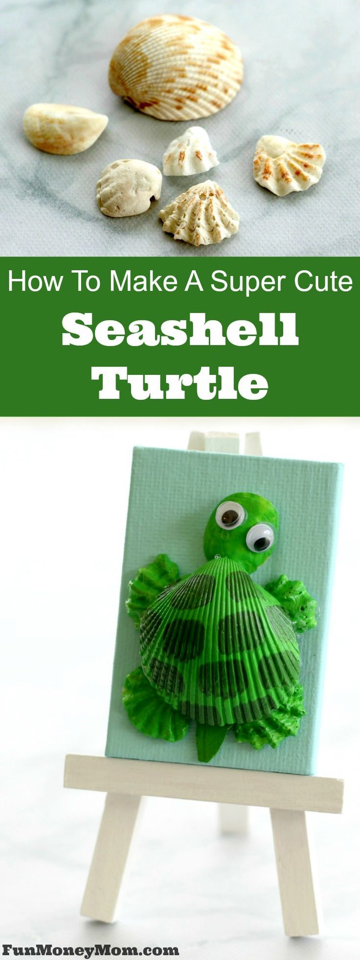 How To Make A Super Cute Seashell Turtle