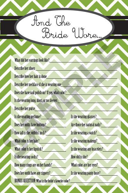 Color Customized Printable Bridal / Wedding Shower