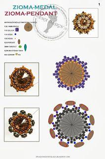 Ewa gyöngyös világa!: Zioma medál minta / Zioma pendant pattern