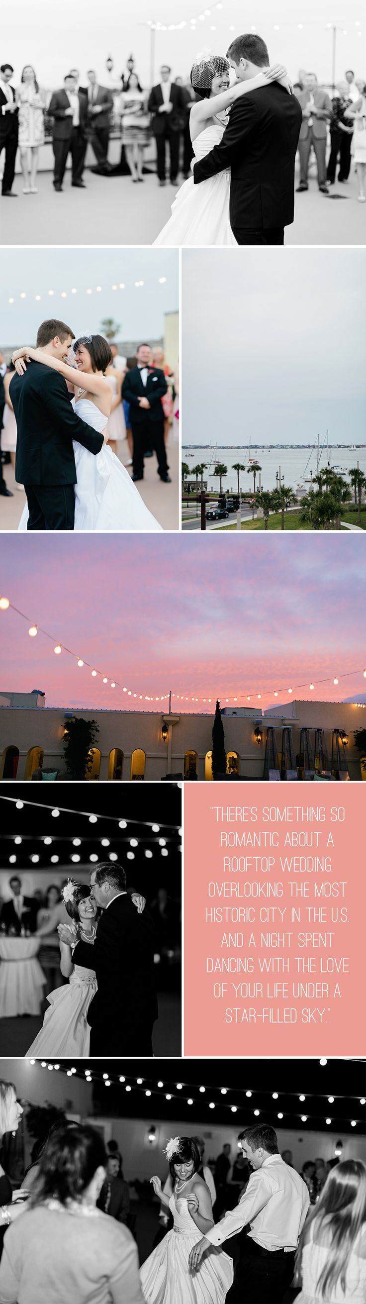 "There's something so romantic about a rooftop wedding overlooking the most historic city in the U.S. and a night spent dancing with the love of your life under a star-filled sky.  ""As As soon as Chris and I stepped foot onto the rooftop at The White Room in St. Augustine, FL we knew it was just what we had been looking for. With beautiful wood floors, natural light, gorgeous textured brick..."