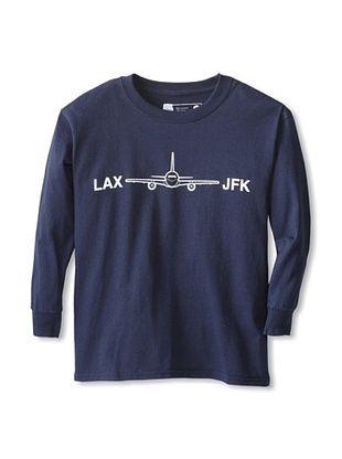 67% OFF Little Dilascia Kid's LAX-JFK Long Sleeve Tee (Navy)
