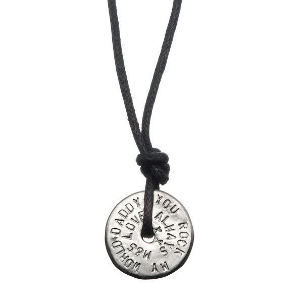 Personalised men's love bead necklace