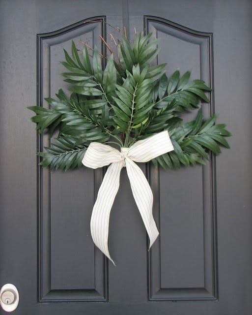Palm Sunday front door wreath by rosella