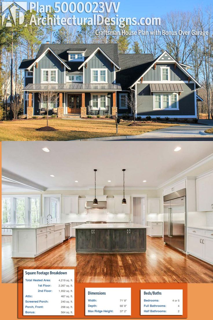 architectural designs home plans. Architectural Designs Exclusive House Plan 500023VV is a modern Craftsman  home giving you 4 to 5 1393 best Editor s Picks images on Pinterest