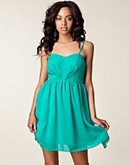 Emmy Dress - Dry Lake - Turkoois - Doordeweekse jurken - Kleding - NELLY.COM alleen al om de naam