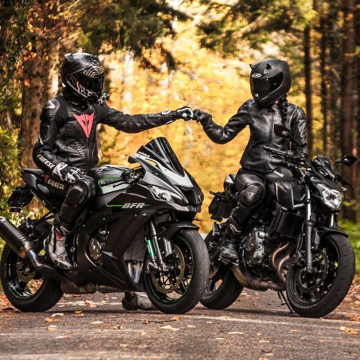 Картинки парни с девушками на мотоцикле