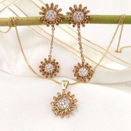 Seagull Gifts | 9k Star Diamond,Citrine Earring and Pendant Set | seagullgifts.com.au