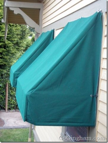 How to Make Awnings #Green #Frugal | Go Gingham