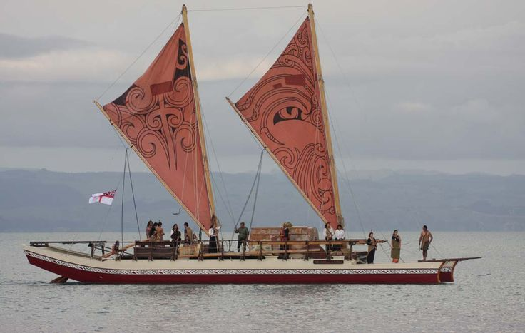 """""""Te Matau A Maui"""" based on traditional Maori Waka (boat/canoe) what a wonderful way to learn and experience both past and present Maori navigational expertise, beliefs and values , moored in Ahuriri Napier"""