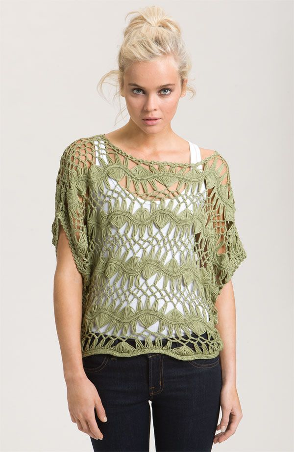 Love the open weave sweaters for spring and summer...