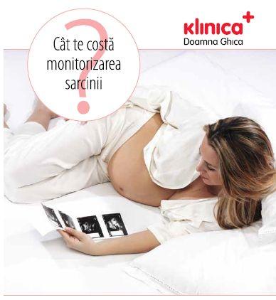 Cat te costa monitorizarea sarcinii?  Klinica Doamna Ghica iti pune la dispoziție un pachet complet pentru toate serviciile medicale necesare înainte de naștere: CARNETUL PENTRU O SARCINĂ SĂNĂTOASĂ.Nu este un abonament propriu-zis,  poți să folosești toate cele 11 vouchere necesare celor 11 consultații din timpul sarcinii, sau doar unul sau mai multe. Acest carnet este sprijinul nostru pentru viitoarele mămici, în a avea o sarcină ușoară și sănătoasă și în același timp, acces la prețuri…
