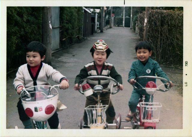 昭和の子どもと自転車