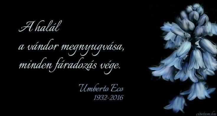 Umberto Eco idézete a halálról.