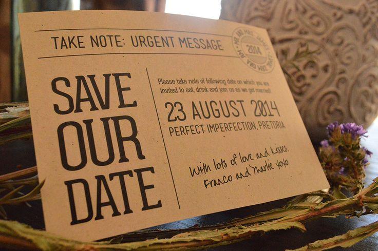 Save the Date by www.hestiastationery.co.za