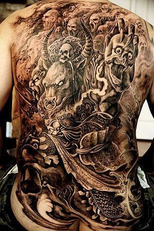 crazy back tattoo skulls demons tattoos pinterest back tattoos tattoos and body art and. Black Bedroom Furniture Sets. Home Design Ideas