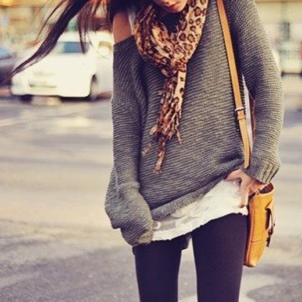 Gorgeous outfit for Winter I have become addicted to baggy sweaters, if only it were cold enough to wear them