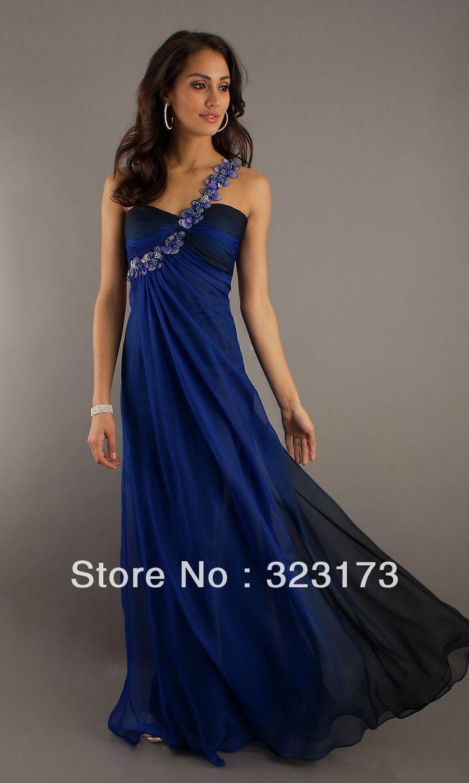 dark blue dresses prom - Google Search