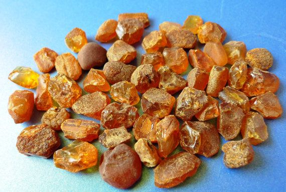 Small Raw Honey Red Cognac colour BALTIC AMBER by ForCollecting