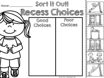 Making Good Choices Worksheet Kindergarten. Making. Best