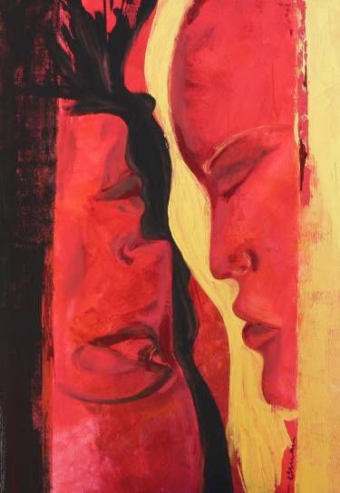 """Saatchi Art Artist Florin Coman; Painting, """"Face 2 Face"""" #art"""