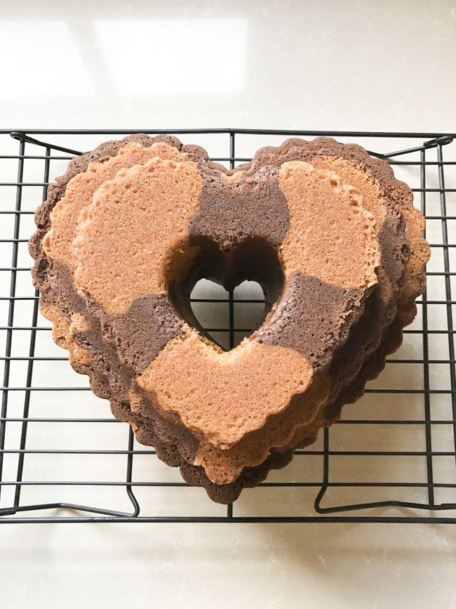 Objetivo: Cupcake Perfecto.: Bundt cake de chocolate y almendras (con crema de Nutella) para San Valentín